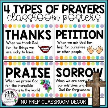 4 Types Of Catholic Prayer Posters Classroom Display Teacher Prayer Classroom Prayer School Prayer