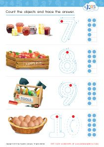 Count and Trace: 7 - 10 | Singapore Math for Kindergarten ...