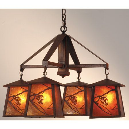 Four Light Craftsman Style Chandelier Chandeliers Pinterest And