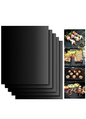 Details About 5 X Bbq Grill Mat Teflon Reusable Sheet Resistant Non Stick Barbecue Bake Meat Bbq Grill Bbq Barbecue