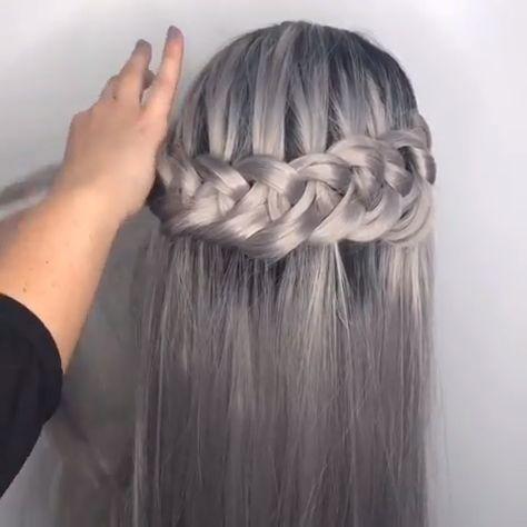 braided hair tutorial! #braidstyles #hairtutorial #hairvideos #braidedhair #dutchbraids #frenchbraid #videotutorial #longhairstyles