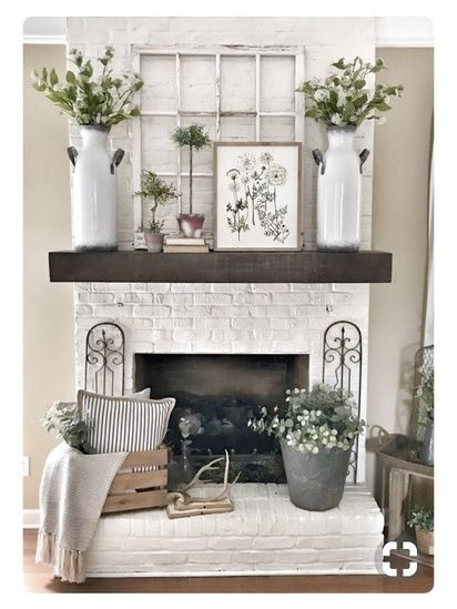 Farmhouse Decoration For Fireplace Area Nice And Cozy Ad