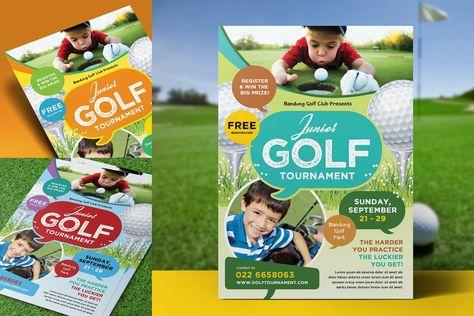 Kids Charity Golf Flyer Design