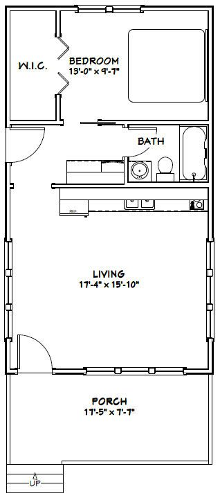 18x32 House 18x32h2a 576 Sq Ft Excellent Floor Plans Building A Container Home Shipping Container House Plans Container House Plans