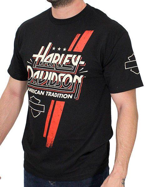 Harley-Davidson T-Shirt Biker Short Sleeve Man Woman Tel-Aviv Israel Black
