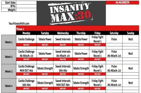 Free Insanity Workout on Demand - Beachbody on Demand - Beachbody - insanity workout sheet