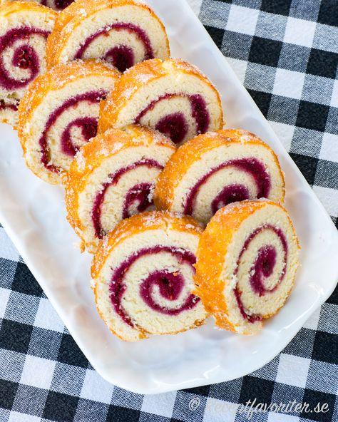 recept rulltårta med jordgubbssylt