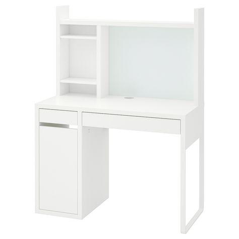 Cassettiera Per Scrivania Ikea.Micke Scrivania Bianco 105x50 Cm Ottieni Tutti I Dettagli Del