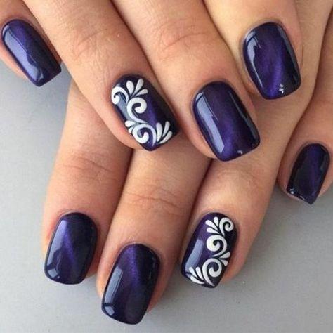 Navy Nail Art Images - nail art and nail design