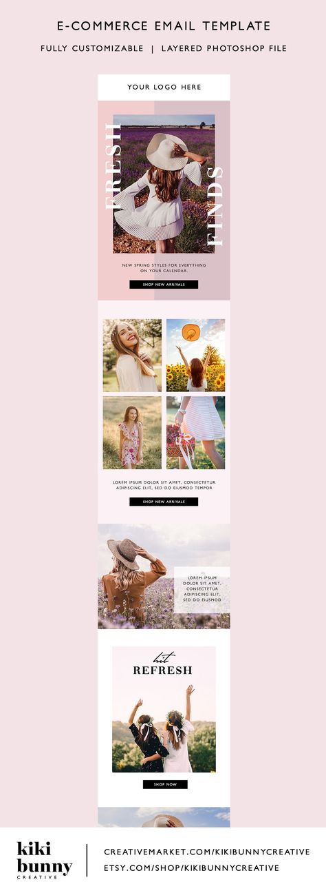 Fashion Ecommerce Email Template PSD | crystaltcreative.com