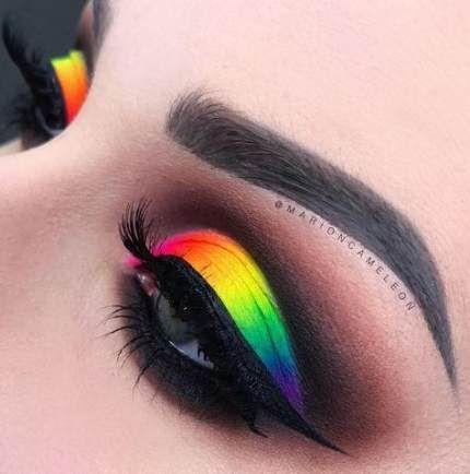 50 Ideas Eye Makeup Rainbow Neon Makeup Eye In 2020 Rainbow Eye Makeup Eye Makeup Art Pride Makeup