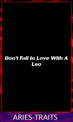 Don't Fall In Love With A Leo #zodiac #leo #pisces