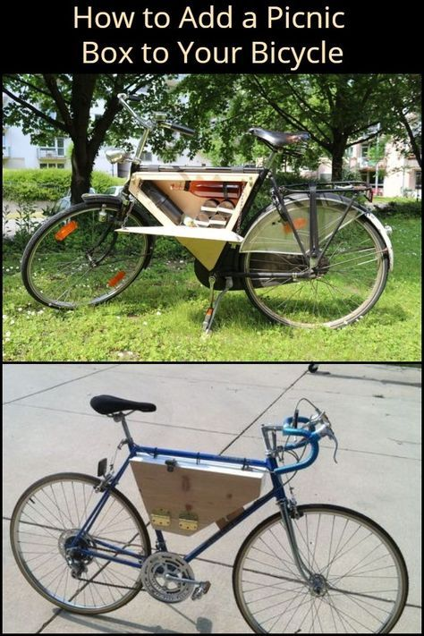A Picnic Box On A Bike Yes To This Picnic Box Bicycle