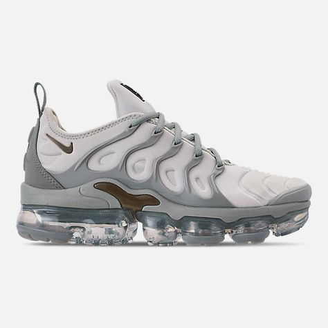 b4c665b98314 Right view of Women s Nike Air VaporMax Plus Casual Shoes in Light  Silver Medium Olive Mica Green