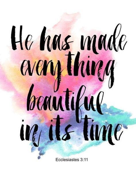 """Bible Study: """"He has made everything beautiful in its time. He has also set eternity in the human heart; yet no one can fathom what God has done from beginning to end."""" Ecclesiastes 3:11"""