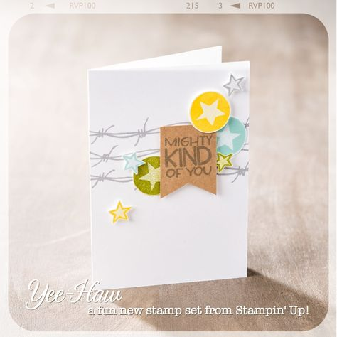 Love this thank you note made with the Yee-Haw set.