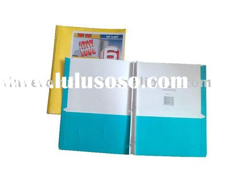 Three Prong Pocket Folders plastic folder with brads and pockets - resume folders