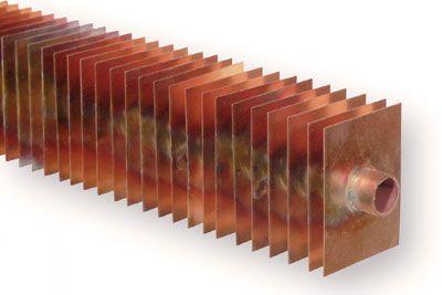 Kupferlamellenrohr Zierleiste Wandnischen Heizsysteme