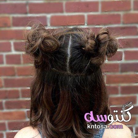 احدث قصات الشعر القصير احلى قصات الشعر قصات شعر قصير مدرج قصات شعر قصير2019 Kntosa Com 15 19 155 Cute Hairstyles For Short Hair Hair Styles Short Hair Bun