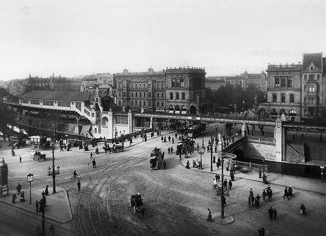 Hochbahn Hallesches Tor und Blücherplatz. 1902 © Landesarchiv Berlin Fotograf: Waldemar Titzenthaler
