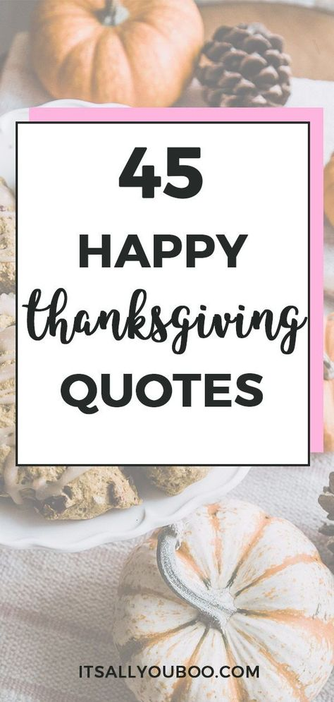 Looking for the best Happy Thanksgiving quotes and sayings? Click here for 45 inspirational Thanksgiving quotes for friends and family to share the spirit of gratitude. #Thanksgiving #ThanksgivingQuotes #ThanksgivingQuote #GiveThanks #HappyThanksgiving #ThankfulQuotes #Grateful #Abundance #Thankfulness #CountYourBlessings #ThanksgivingDinner #ThanksgivingTips  #Affirmations #GratitudeJournal  #Gratefulness #ThankfulMindset #MindfulLiving #QuotesToLiveBy #Positive #PositiveThinking