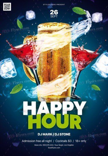 Happy Hour Psd Flyer Template 25689 Menu Flyer Flyer Psd Flyer Templates