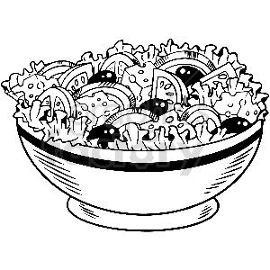 Black And White Salad Vector Clipart Clip Art Vector Clipart Black And White