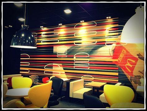 Interior shot of McDonald's Flagship Olympic Restaurant - London