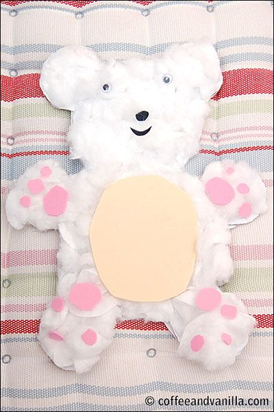 Cotton Wool Teddy Bear – Kid's Craft Idea