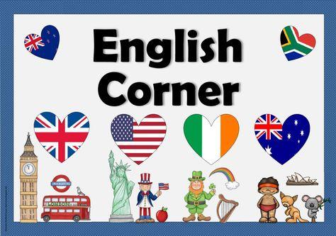 Englisch in der Grundschule: Schild für die Englischecke