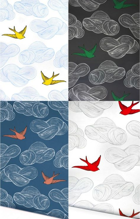 Bold And Bright Bird Wallpaper For A Nursery Daydream Wallpaper Bird Wallpaper Nursery Wallpaper