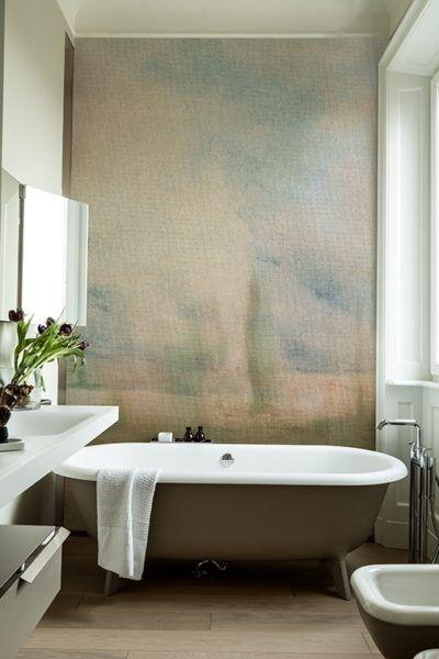 Badezimmer Renovieren Mit Tapete Und Ohne Fliesen Badezimmer Renovieren Badezimmer Tapete Deko Wand