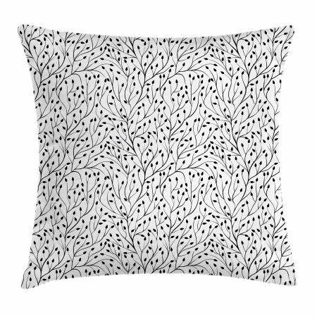 Black And White Throw Pillow Cushion Cover Monochrome Wedding