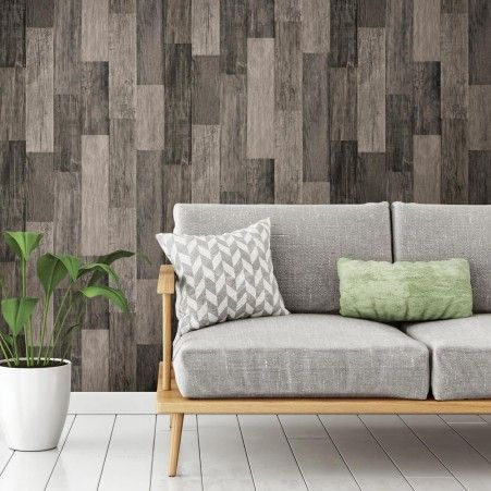 Weathered Wood Peel And Stick Wallpaper Wood Plank Wallpaper Cheap Apartment Decorating Wood Planks