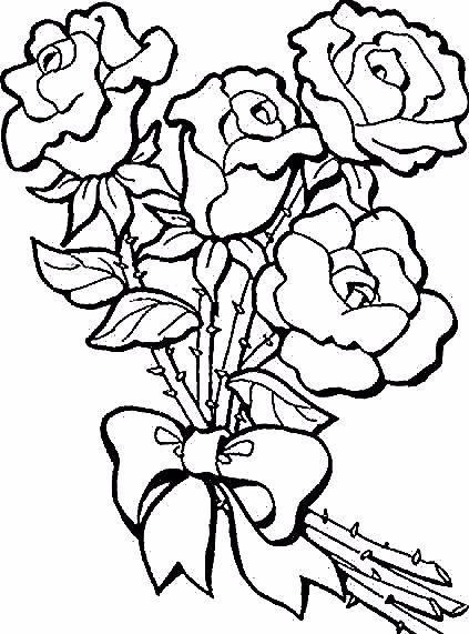 27 Lukisan Bunga Mawar 39 Gambar Sketsa Bunga Indah Sakura Mawar Melati Download 50 Conto In 2020 Flower Coloring Pages Free Coloring Pictures Rose Coloring Pages