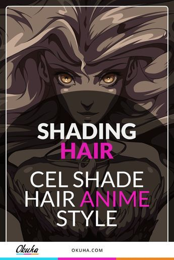 How To Cel Shade Hair Step By Step Guide How To Shade How To Draw Hair Drawings