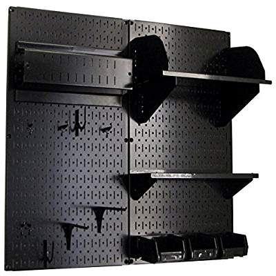 Wall Control Hobby Craft Pegboard Organizer Storage Kit Black Storage Kits Pegboard Organization Garage Wall Storage