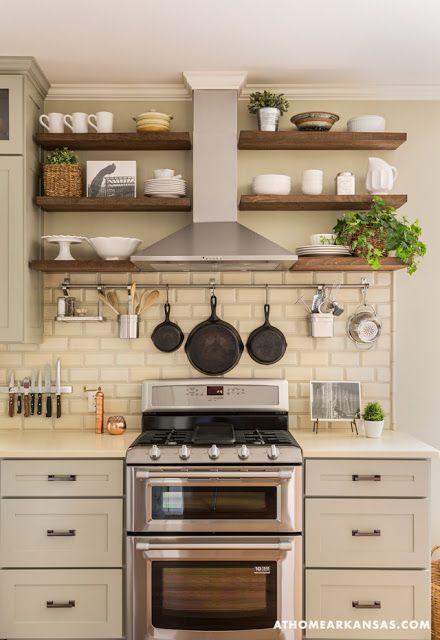 Ideas on Open Shelves in the Kitchen - http\/\/homechanneltv - open kitchen shelving ideas