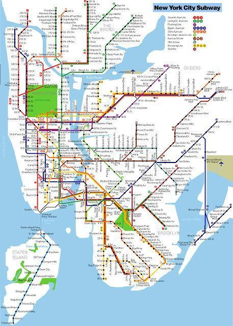 New York Subway Map To Print.Printable New York City Map New York Metro Map Nyc New York