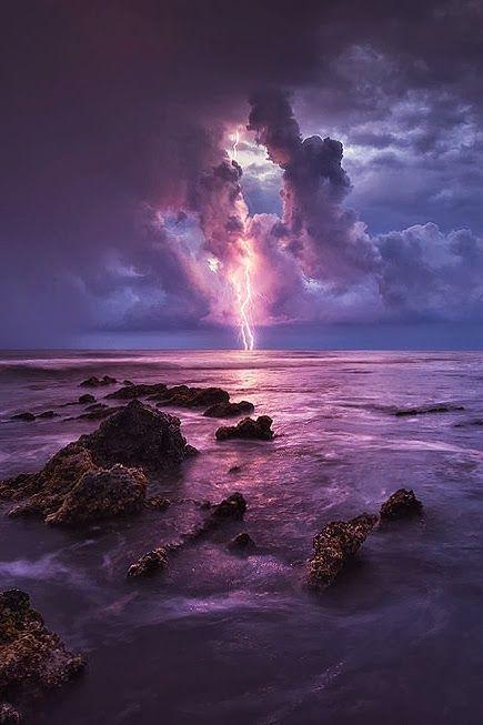 Purple Nature Photography Storm Photography Landscape Photography