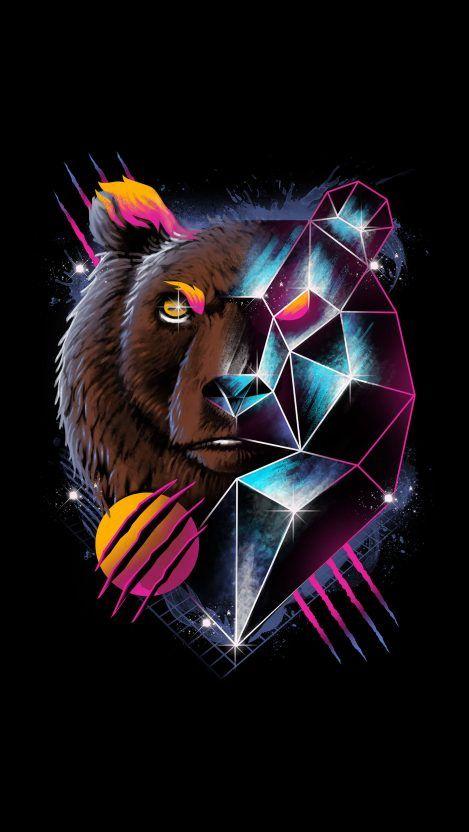 Wild Bear Art Iphone Wallpaper Bear Art Art Wallpaper Airbrush Art