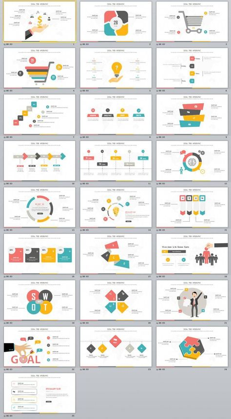 25+ multicolor swot infographics charts PowerPoint Template #infographicsanimation