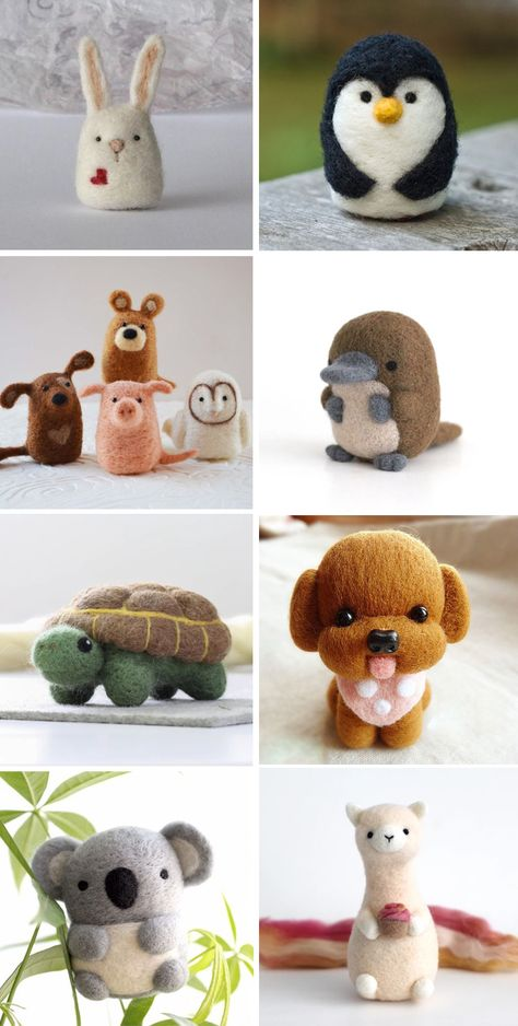 Felt Crafts Diy, Felted Wool Crafts, Felt Diy, Needle Felted Animals, Felt Animals, Needle Felting Tutorials, Felt Decorations, Sewing Toys, Wet Felting