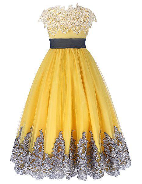 Grace Karin Prinzessin Aermellos A Linie Brautjungfer Party Kleid 10 11 Jahre Sommerkleider Madchen Sommer K Ballkleid Kleider Fur Balle Blumenmadchen Kleid