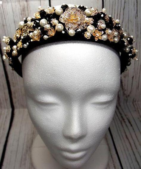 Corona Dolce barocco di stile dolce fascia copricapo fatto a | Etsy