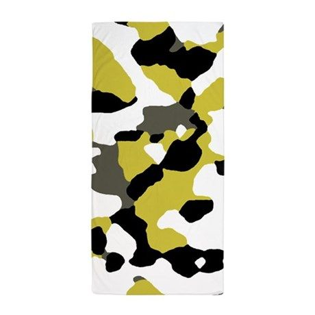 Camouflage Black Gold Beach Towel By 13 Tactical Gold Beach