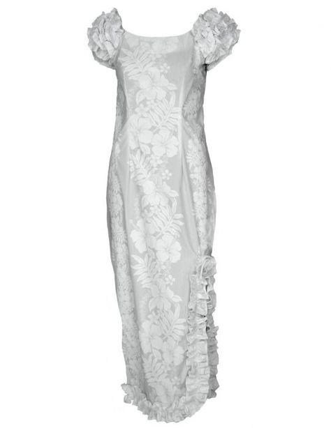 Maxi Ruffled Wedding Hawaiian Dress Hokeo Free Shipping from Hawaii   hawaiiandress  weddingdress  hawaiianwedding  dresses  tropicaldress   tropicalwedding 238b15fadd46