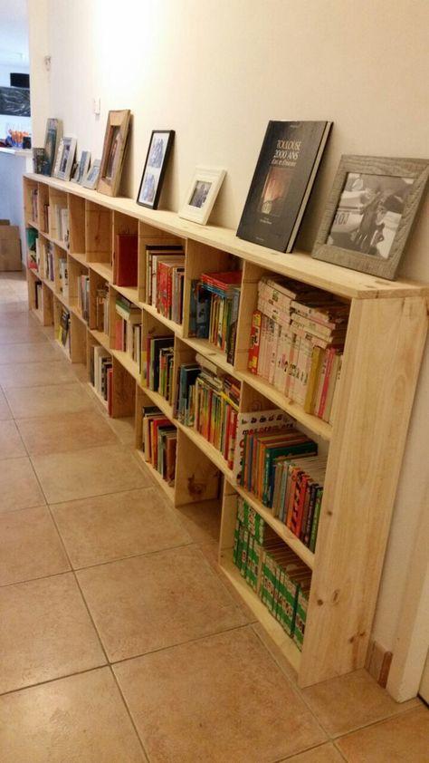 Upcycling Bibliotheque Home Made En Caisses De Vin Caisse A