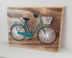Bicycle String Art, Ready Made, Made to Order