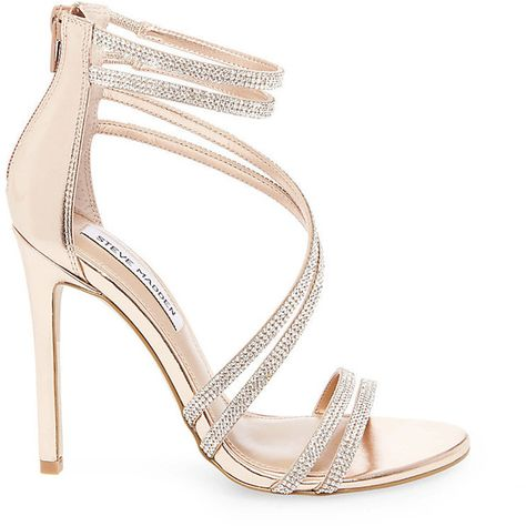 841624398d Steve Madden Women's Sweetest Stilettos Sandals ($100) ❤ liked on Polyvore  featuring shoes, sandals, rose gold, dressy sandals, high heel sandals, ...